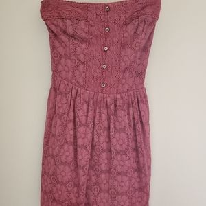 Lace strapless Abercrombie & Fitch dress